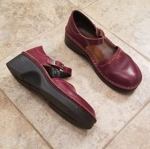 NAOT Great Condition Leather Burgundy Mary Janes